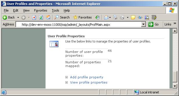 SSP - User Profiles