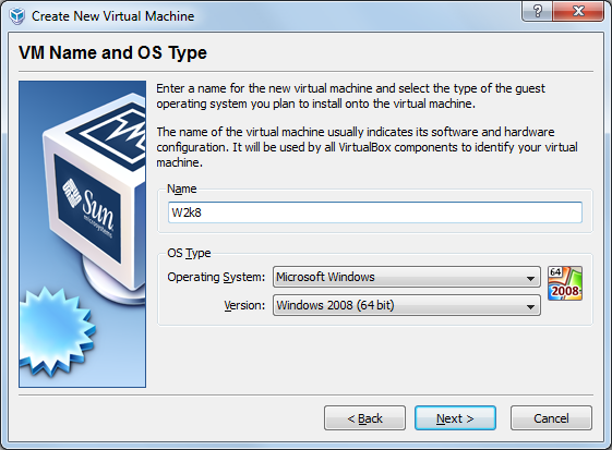 VBox-Choose OS